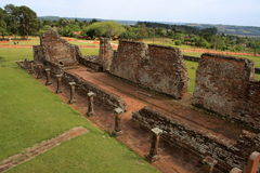 Jesuit mission Ruins in Trinidad, Paraguay Royalty Free Stock Photography