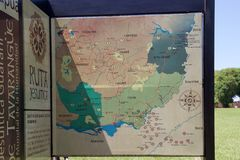 Jesuit Missions map in South America. Jesuit Missions map in Argentina, Brazil,Paraguay and Uruguay, South America. Jesuit reduction was a type of settlement for royalty free stock photography