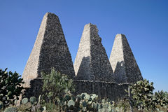 The jesuit ovens in mineral de pozos Stock Image