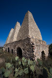 The jesuit ovens in mineral de pozos mexico Royalty Free Stock Images