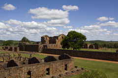 Jesuit Ruins in Trinidad Royalty Free Stock Photography