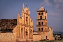 Jesuitbeskickning i San Jose de Chiquitos, Bolivia arkivfoton