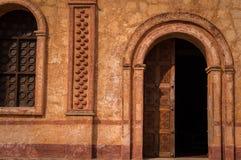 Jesuitbeskickning i San Jose de Chiquitos, Bolivia arkivbilder