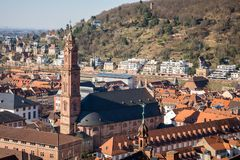 Jesuitenkirche Heidelberg Duitsland stock fotografie