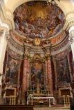 Jesuitkirche von St Ignatius in Dubrovnik-Innenraum stockfotos