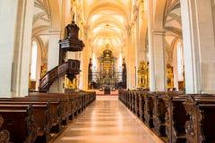 Jesuitkyrka i Lucerne Arkivbild