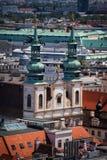 Jesuitkyrka i stad av Wien Arkivbild