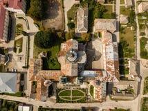 Εναέρια άποψη από τον κηφήνα στο μοναστήρι Jesuits και το σχολή, Kremenets, Ουκρανία στοκ φωτογραφία με δικαίωμα ελεύθερης χρήσης