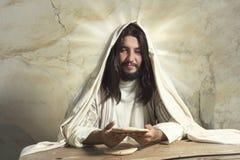 Jesus äntligen kvällsmål royaltyfria foton