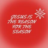 Jesus är anledningen för säsongen arkivfoton