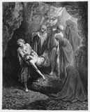 Jesus é enterrado enterrar Fotos de Stock