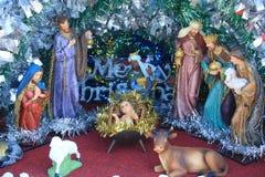 Jesus é nascido, cena da natividade Fotos de Stock