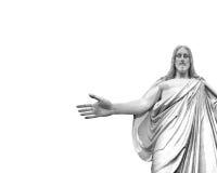 Jesus. Statute of Jesus with white background Royalty Free Stock Photo