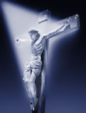 Jesus. Photo-composition of Jesus Christ dying on the cross Royalty Free Stock Images