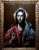 Jesus. Picture of Jesus in 1600 photographed in Italy Stock Image