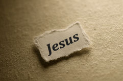 Jesus. Picture of a word Jesus Royalty Free Stock Photo