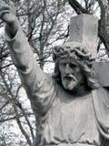 Jesus. Cemetery in Poland Stock Photo
