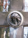 Jesus. Cross in a cemetery Royalty Free Stock Images