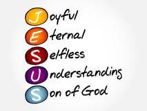 JESUS acronym concept Stock Photo