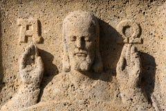 Jesus alfabetisk och omega arkivbilder