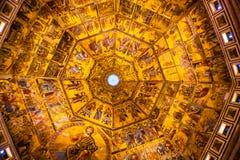 Jesus Angels Bible Mosaic Dome Bapistry Heilige John Florence Ital stock fotografie