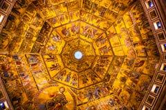 Jesus Angels Bible Mosaic Dome Bapistry Heilige John Florence Italy royalty-vrije stock foto's