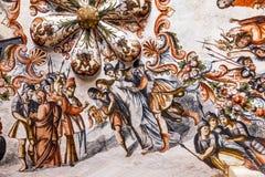 Jesus Arrest Fresco Sanctuary av Jesus Atotonilco Mexico Arkivfoton