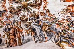 Jesus Arrest Fresco Sanctuary of Jesus Atotonilco Mexico. Built in the 1700s known as the Sistine Chapel of Mexico with Frescoes of Jesus Stories.  Frescoes by Stock Photos