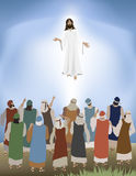 Jesus Ascends stock illustrationer