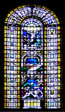 Jesus auf einem Fenster Stockbilder