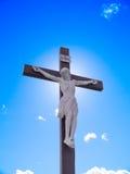 Jesus auf Kreuz Lizenzfreie Stockfotografie