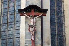 Jesus auf Kreuz Lizenzfreies Stockbild