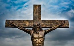 Jesus auf Kreuz Stockbilder