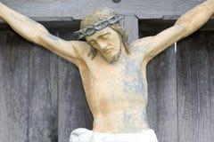 Jesus auf Kruzifix Lizenzfreie Stockbilder