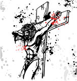 Jesus background. With ink dripping Stock Image