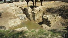 Jesus Baptism, Jordan River, viaggio, Terra Santa stock footage