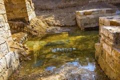 Jesus Baptism Site John Baptist Bethany Beyond Jordan royalty-vrije stock afbeeldingen