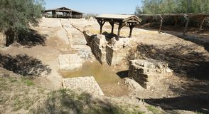 Jesus Baptism Site, Jordan Travel imagens de stock royalty free