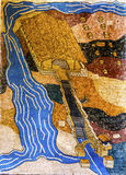 Jesus Baptism Site Mosaic John Baptist Bethany Beyond Jordan royalty-vrije stock afbeelding