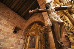 Jesus in Barichara. A cross with Jesus in Barichara, Colombia Stock Photography