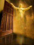 Jesus betreten Tür Lizenzfreie Stockfotos