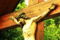 Jesus bij kruis Stock Afbeeldingen