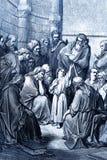 Jesus bland lärarna Arkivfoto