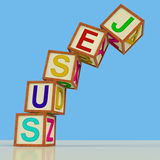 Jesus Blocks Mean Christianity Faith And Saviour Stock Photos