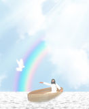 Jesus Boat Illustration royalty illustrazione gratis