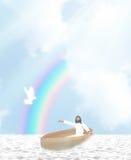 Jesus Boat Illustration Fotos de archivo