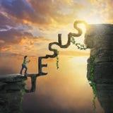 Jesus bridge between cliffs Royalty Free Stock Image