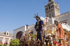Jesus captive San Pablo, Holy Week in Seville Royalty Free Stock Images