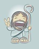 Jesus cartoon f Stock Image