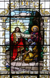 Jesus and the centurion. Lord, I am not worthy to have you come under my roof... Royalty Free Stock Photography